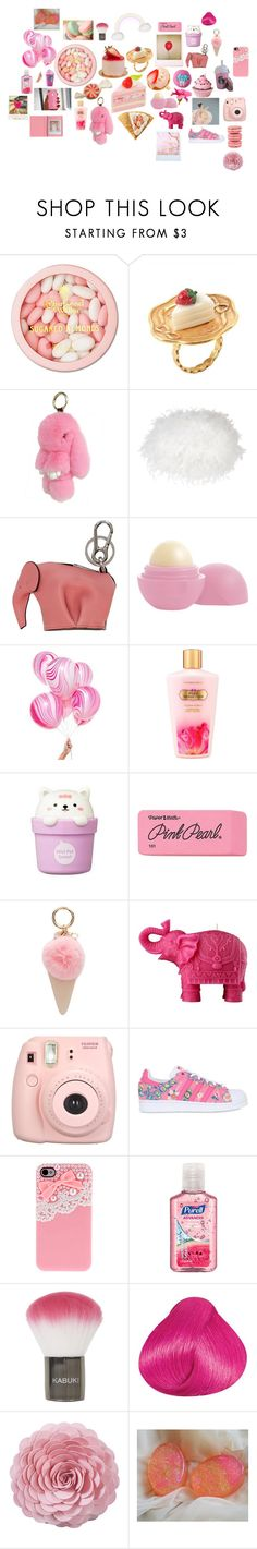 """""""WE LOVE PINK💓🎀"""" by anasofiavazqueza on Polyvore featuring Charbonnel et Walker, Laura Ashley, Loewe, Eos, Knot & Bow, Victoria's Secret, The Face Shop, Paper Mate, Iphoria y Mario Luca Giusti"""