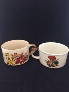 A personal favorite from my Etsy shop https://www.etsy.com/listing/267800458/mushroom-flowers-ceramic-mugs-coffee