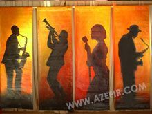 painted jazz club scenes for party decorating - Google Search