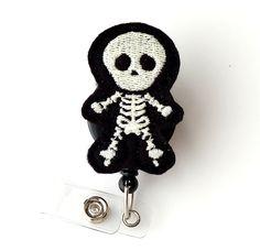 Skully Skeleton  Glow In The Dark Badge  Cute Badge by BadgeBlooms