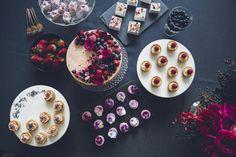 modern luxe dessert table