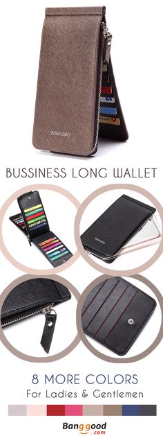 US$11.99 + Free Shipping. 6.6 inches 26 Credit Card Men Business Pu Long Wallet Card Holder Coins Bag. Color: Black, Blue, Pink, Rose Red, Light Coffee, Dark Coffee, Light Purple, Red. Get A Pair 4 You & Your Love.