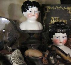 Victorian Dolls, Antique Dolls, Vintage Dolls, Glass Dolls, Doll Display, China Dolls, China Girl, China Painting, Folk Art