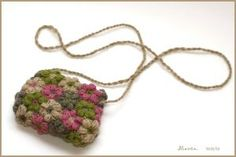 Crochet flower bag made from mollie flowers (tutorial link for flowers)