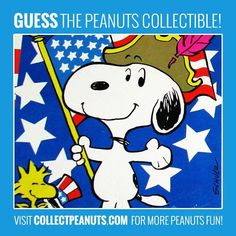 Grand Ol' Flag! Guess the Snoopy and Woodstock collectible in today's Peanuts Puzzler! Check CollectPeanuts.com for the answer.
