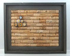 Corkboard made of old wine corks.