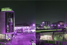 Funky shots of Sleeperz Hotel Cardiff at night - we all get dressed up on our birthday after all! 5 Today and aging well!