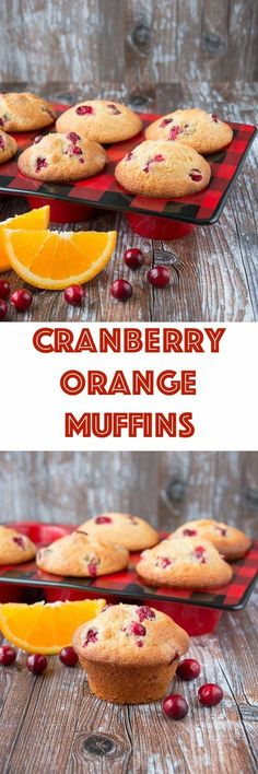 Brighten up your day with these cranberry orange muffins! They are soft and moist, loaded with tangy cranberries and bursting fresh orange flavors. Adjusted 1 whole egg, one yolk and c. Delicious go to batter will try with other berries. Cranberry Muffins, Muffins Blueberry, Cranberry Recipes, Almond Muffins, Orange Recipes, Veggie Muffins, Zucchini Muffins, Mini Muffins, Muffin Recipes