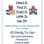 Looking for another way for your students to practice reading, finding, building, writing and using high frequency (sight) words all on one page