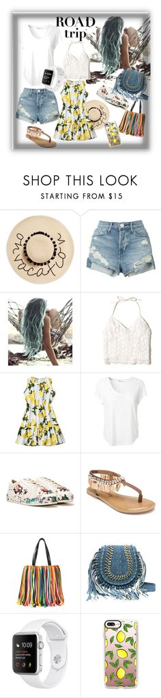 """""""Let's travel the world  #girl #cute #summer #spring #love #fashion #travelerstyle #tropical #charmingtropicalstreetstyle #backpacker #white #blue #casual #beauty #simple #polyvore #contest"""" by lilianadisty ❤ liked on Polyvore featuring August Hat, 3x1, Hollister Co., T By Alexander Wang, Nasty Gal, Penny Loves Kenny, Emilio Pucci and Casetify"""