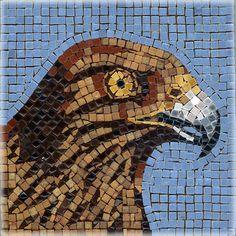 Mosaic Eagle - Mosaik Adler - Mosaique Aigle - Micro Ceramic Tiles - Kit Alea Mosaik