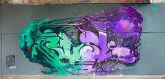 Creative Street Art Wall Murals by Etam Cru Graffiti Art, Images Graffiti, Love Graffiti, Urban Graffiti, Street Mural, Street Art Graffiti, Wall Street, Train Art, Amazing Street Art