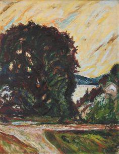 Oak at Stoa, Holmsbu, - Henrik Sørensen Norway, Sky, Landscape, Painting, Art, Heaven, Heavens, Painting Art, Landscape Paintings