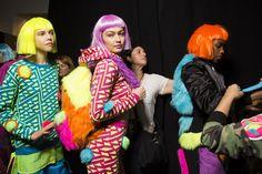 February Gigi hadid backstage at Jeremy Scott Fashion show during Sports Illustrated, Gigi Hadid, Wig Party, Autumn Fashion 2018, Jeremy Scott, Fall 2018, Dress Codes, Designer Collection, Backstage
