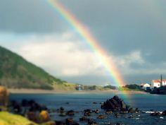 rainbow in Porto Pim, Faial, Azores - http://www.traveldifferent.eu/home-eng/azores/ #traveldifferent #faial #horta #azores