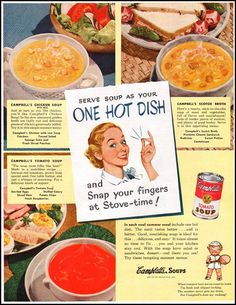 CAMPBELL'S SOUPS LADIES' HOME JOURNAL 07/01/1949 p. 57