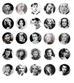 AFI's top 50 greatest screen legends  Free Digital Bottle Cap Images  Katharine Hepburn, Bette Davis, Audrey Hepburn, Ingrid Bergman.. Stop right there.