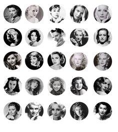 AFI's top 50 greatest screen legends  Free Digital Bottle Cap Images  Katharine Hepburn, Bette Davis, Audrey Hepburn, Ingrid Bergman.. Stop right there.