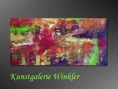 Acrylmalerei - Gemälde Abstrakt Deko Acrylbilder Leinwand Unikat - ein Designerstück von A-Winkler bei DaWanda  http://de.dawanda.com/shop/A-Winkler