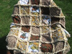 Northwoods Cabin Rag Quilt Blanket or Couch Throw. $110.00, via Etsy.
