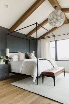 Home Remodel Bedroom Modern Bedroom Design Ideas for a Dreamy Master Suite - jane at home.Home Remodel Bedroom Modern Bedroom Design Ideas for a Dreamy Master Suite - jane at home Navy Master Bedroom, Master Bedroom Design, Home Decor Bedroom, Girls Bedroom, Bedroom Ideas, Diy Bedroom, Bedroom Black, Bedroom Wall, Trendy Bedroom