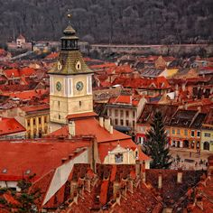 Brasov, Romania, Surrounded by the peaks of the Southern Carpathian Mountains and filled with Gothic, Baroque and Renaissance architecture. Wonderful Places, Beautiful Places, Brasov Romania, Turism Romania, Renaissance Architecture, Most Visited, Eastern Europe, Macedonia, Beautiful World