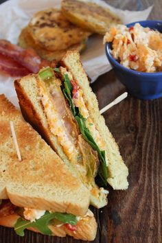 Fried Green Tomato BLTs with Pimento Cheese | Bites of Bri