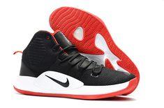 """2018 Nike Hyperdunk X """"Bred"""" Black Varsity Red-White Basketball Shoes Men s 93f76782c"""