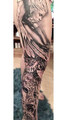 Tattoo Leg Sleeve Black Beautiful Ideas For 2019 Mermaid Tattoos, Feather Tattoos, Leg Tattoos, Black Tattoos, Girl Tattoos, Sleeve Tattoos, Fairy Tattoo Designs, Music Tattoo Designs, Music Tattoos
