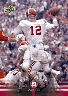 "Alabama is the current defending National Champion and has a record 14 National Championships over the program's storied history. And now Upper Deck is proud to release a set of trading cards commemorating the greatest players in Alabama history.  Each pack will be loaded with prominent Crimson Tide football alumni like Bart Starr, Paul ""Bear"" Bryant, Joe Namath, Kenny Stabler, Ozzie Newsome, Shaun Alexander, Julio Jones, Mark Ingram, Trent Richardson and even current head coach Nick Saban."