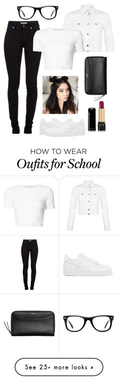 """""""Schools' back in session!!!"""" by genova-was-here on Polyvore featuring Burberry, NIKE, Miss Selfridge, Rosetta Getty, Skagen, Lancôme and Muse"""