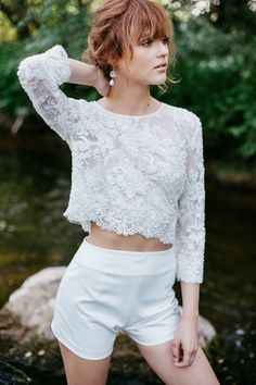 Wedding Top Bridal Lace Top Bridal Separates Lace Wedding