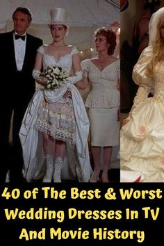 There are definitely gorgeous wedding dresses constantly flaunted upon us in some of the best movies and TV series out there. Then there are also some pretty dubious ones, the ones that make us wonder whether they purposely chose an ugly dress, or the choice was just some fashion flop. Take a look at this article and see which actresses got to wear the most beautiful dresses the never wanted to take off, and the ones who couldn't change out of their dresses fast enough. Short Hairstyles For Thick Hair, Curly Hair Styles, Natural Hair Styles, Worst Wedding Dress, Bum Tattoo, Ankle Tattoos For Women, Cruise Outfits, Special Occasion Outfits, Dream Tattoos