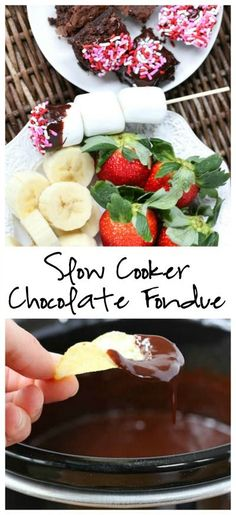 Slow Cooker Chocolate Fondue Slow Cooker Chocolate Fondue - the perfect Valentine's Day dessert! Slow Cooker Chocolate Fondue Slow Cooker Chocolate Fondue - the perfect Valentine's Day dessert! Chocolate Fondue Bar, Best Chocolate, Chocolate Desserts, Chocolate Fondue Recipe Crockpot, Crockpot Fondue, Köstliche Desserts, Delicious Desserts, Dessert Recipes, Yummy Food