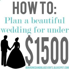 Tips Tricks on how to plan your dream wedding for amazingly cheap. I especially love her alternative to flowers! #wedding #budget