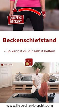Beckenschiefstand – So hilfst du dir selbst! Bikini Body Workout Plan, Yoga Fitness, Health Fitness, Health Cleanse, Health Logo, Health 2020, Muscle, Back Pain, Excercise