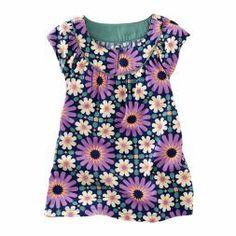 Little Girls Tile Flutter Patterned Dress | Tea Collection