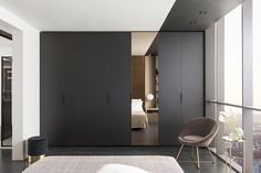 Photo Dressing room with mirror black mat Ambiance Reflection wardrobe closed Source by yfourier Bedroom Cupboard Designs, Bedroom Cupboards, Mirror Cabinets, Armoire Entree, Dressing Design, Archi Design, Bedroom Wardrobe, Suites, Walk In Closet