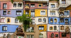 Colorful Houses - Exposure of the Hundertwasser House in Vienna. The Hundertwasser House in Vienna is one of Austria's architectural highlights.  The house designed by Friedensreich Hundertwasser draws visitors from around the world. The Hundertwasser House in Vienna bears the unmistakable hand of the artist Friedensreich Hundertwasser, whose pen-name was Friedrich Stowasser.  The colorfully decorated exterior façade of Hundertwasser House in Vienna draws attention to itself almost…