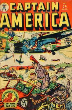 Captain America Comics # 36 by Syd Shores