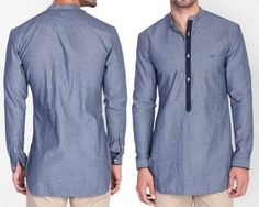 We like your sense of style. The fact that you're thinking of buying this kurta places you on a level several notches above mere mortals of fashion.  Of course there a number of things that we're assuming here: that you appreciate good style; that you can pull off a fashion forward kurta; that you'll actually do it justice when you put it on.This daily deal for the Mr Button Cotton Nehru Collar Men's Kurta (Blue) is the best price in Indian online shopping