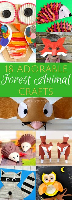 18 Adorable Forest Animals Crafts So many adorable Forest Animal Crafts for kids to make. Forest Animal Crafts, Forest Crafts, Animal Activities For Kids, Animal Art Projects, Animal Crafts For Kids, Crafts For Kids To Make, Forest Animals, Toddler Crafts, Animals For Kids