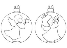 Palline di Natale con angeli per addobbi aula