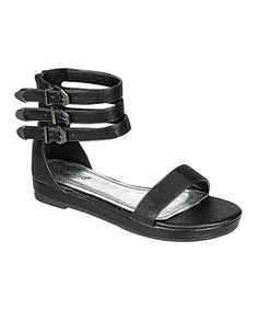 Look at this Black Formula Gladiator Sandal on #zulily today!