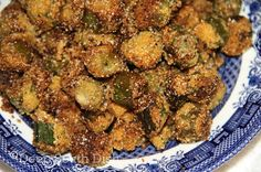 Classic Southern style, cast iron skillet fried okra. This looks like what my mom made!!!