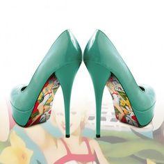 Liquid Heels Pimp your heels - pin up design.    Verkrijgbaar op Www.LiquidHeels.nl