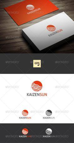 Kaizen Sun Logo Template