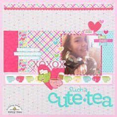 Doodlebug Design Inc Blog: Cream & Sugar Collection: Such a Cute-Tea Layout by Kathy Skou