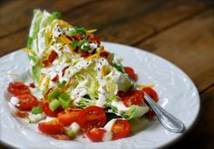 blt wedge salad. make this with some homemade ranch dressing, recipe included shelly!