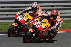 Great Day for Honda!! Marc Marquez 1st & Dani Pedrosa 2nd. #MotoGP #GermanGP #2015